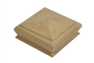 White Oak Pyramid Newel Cap